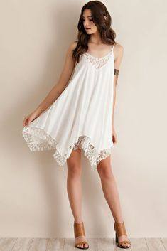 Stay cute and comfy this summer in this sexy white lace sundress! Made from ultra-smooth fabric for maximum comfort. Free Worldwide Shipping & Money-Back Guarantee SIZE BUST LENGTH S 33 M 35 29 L 36 XL 38 30 Note: Sizes are in inches. White Shift Dresses, Day Dresses, Short Dresses, Summer Dresses, Tunic Dresses, Dresses Online, White Lace Sundress, Chiffon Dress, White Chiffon