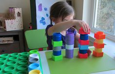 Block Tower Patterns - No Time For Flash Cards Preschool Math Games, Pre K Activities, Kids Learning Activities, Kindergarten Math, Preschool Ideas, Teaching Ideas, Early Math, Early Childhood Education, Class Room