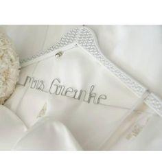 $40 BLINGED MRS Name Personalised Hanger by bridalbling on Handmade Australia
