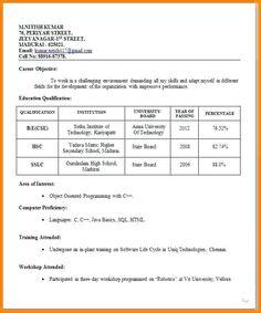 Format Resume Kerja Kerajaan 3 Resume Format Resume Format Resume