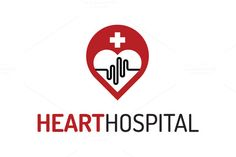 Check out Heart Hospital Logo Template by Dizaino-paslaugos on Creative Market Ambulance Logo, Heart Hospital, Emergency Medical Services, Health Center, Medical Center, Pharmacy, Lululemon Logo, Logo Templates, Logo Design