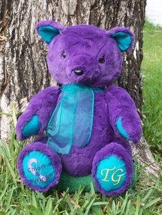 Sarah | Custom handmade teddy bear for #Chiari Malformation awareness. Each sale donates to ASAP.org