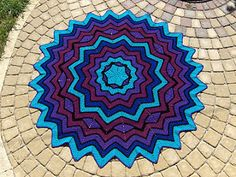 Stained Glass Round Ripple 6 to 24 points