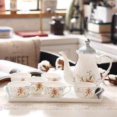 Coffee mugs, Tea cups, Ceramic tea cup and saucer sets Clear Coffee Mugs, Unique Coffee Mugs, Coffee Set, Tea Cup Set, Cup And Saucer Set, Tea Sets, Chinese Tea Cups, Porcelain Dinnerware, Teapots And Cups