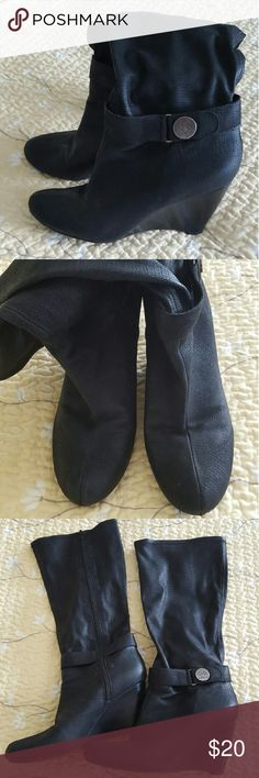 BCBG boots Size 10 B , used but still in good condition, smoke and pet free home BCBG Shoes Heeled Boots
