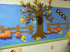 Love it!!!   I hate bulletin boards that have to be changed all the time.   This tree could be decorated seasonally.