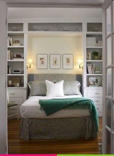 Small bedroom's tend to require extra thought when it comes to storage. Built in's are great and add value to a home. #Smallbedroom #HomeDecor #HomeOrganization