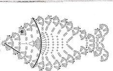 Crochet Earrings Pattern, Crochet Doily Patterns, Crochet Diagram, Crochet Chart, Crochet Doilies, Crochet Fish, Crochet Birds, Crochet Home, Crochet Flowers