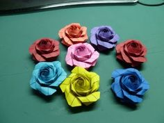 Sato Naomiki Pentagon Origami Rose Tutorial - YouTube