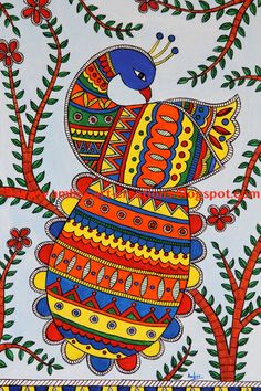 African art painting canvases Ideas for 2019 Madhubani Paintings Peacock, Kalamkari Painting, Madhubani Art, Saree Painting, Peacock Wall Art, Peacock Painting, Music Painting, Painting Art, African Art Paintings