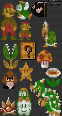 NES Super Mario Bros Knitting Patterns by KAR10SA