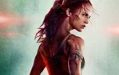 Download wallpapers Tomb Raider, 2018, Lara Croft, 4k, Alicia Vikander, Swedish actress