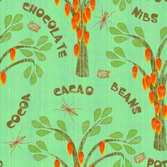 click to go back Mayan Glyphs, Spoonflower, Cocoa, Tropical, Shower, Prints, Green, Design, Rain Shower Heads