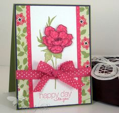 happy day flowers by cindybstampin - Cards and Paper Crafts at Splitcoaststampers