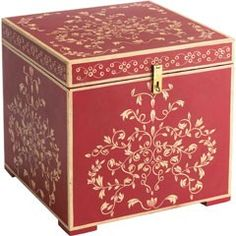 Decorated Wooden Boxes Punch Studio Paisley Peacock Footed Jewelry Box Punch Studio Http