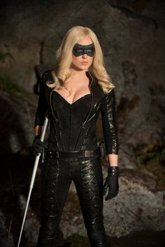 "Actress Caity Marie Lotz as Canary in ""Arrow"" TV Show"