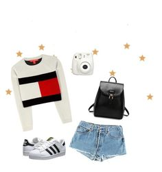 """Tommy style"" by martinadenegri on Polyvore featuring Tommy Hilfiger, Levi's and adidas Originals"