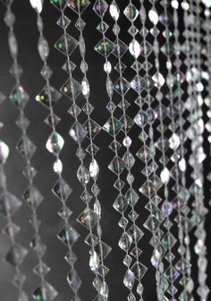 6' Iridescent Clear Crystal Beaded Curtains - Quality decorations at wholesale prices. Find here.. http://www.save-on-crafts.com/cr40.html