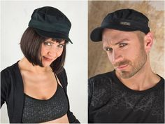 Black Army Cap or Military Cap in Cyber Punk Techno Style with | Etsy Hipster Fashion, Grunge Fashion, Street Fashion, Men Fashion, Jedi Outfit, Grunge Accessories, Pixie Outfit, Dystopian Fashion, Cyberpunk Clothes