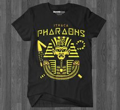 Alpha Phi Alpha inspired t-shirt.    Inspired by sports teams logos. We wanted to create our own version of a powerful representation of Alpha if it were your favorite minor league baseball or sports team!    Inspired by Egyptology we designed this awesome Ithaca Pharaohs character.   Illustrated by Colin Gauntlett   #ALPHAPHIALPHA #APHIA #BLACKANDGOLD