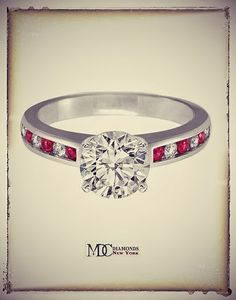 Diamonds & Rubies Engagement Ring