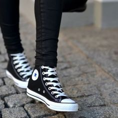 Black Converse High Tops NWT                                                                    Black classic converse                                      High Top                                                             Size 8 in women                                                 NO TRADE NO PAYPAL NO MERC                  All offers considered!  Converse Shoes Sneakers