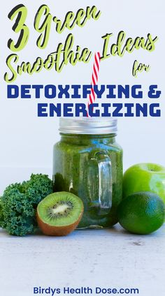 Today I thought I would share with you 3 simple and very tasty recipes for a green smoothie, excellent for keeping your asthenia in the distance, to detoxify your body, and to have an energy bust.