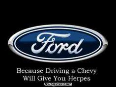 Ohhhhhh smack!!! Chevy Memes, Funny Car Memes, Ford Humor, Truck Humor, Ford Jokes, Big Trucks, Ford Trucks, Ford Emblem, Humor