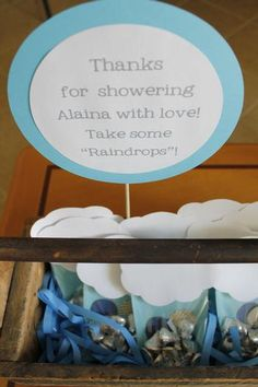 Showering with love= Raindrop kisses. You could do that for Maria