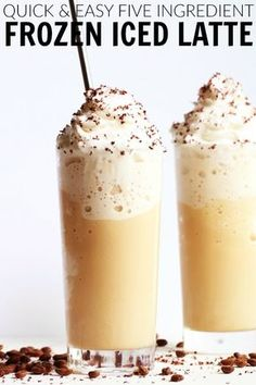 Sip this refreshing and fun Frozen Vanilla Iced Latte this summer! It's the ultimate pick me up and coffee treat that is WAY easier to make than you think! thetoastedpinenut.com #thetoastedpinenut #frozen #iced #vanilla #latte #coffee #drink