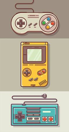 Game Boy and Nintendo Art - drawing - Game Art Game Boy, Graphic Design Trends, Retro Design, Web Design, Japan Design, Game Theory, Video Game Art, Video Game Drawings, Video Game Posters