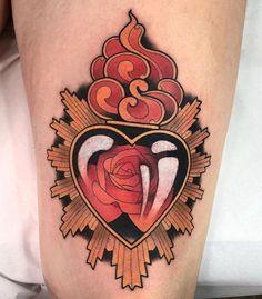 Artista: @kike.esteras ❤️ 📌Conteúdo sobre arte, tatuagem, piercings e muito mais? Você encontra no blog.tattoo2me.com !  #tattoo2me #hearttattoo #tatuagemcolorida #stayhome #neotraditionaltattoo