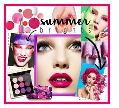 """""""Summer Brights."""" by style-queen-kc-nigz ❤ liked on Polyvore featuring beauty, Clinique, Post-It and MAC Cosmetics"""
