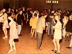 "1960's school dance. If your school held them in the gym and wanted to protect the floor - they made it a ""sockhop"" and you had to dance in your socks."
