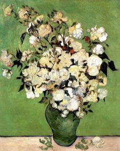 A Vase of Roses by Vincent Van Gogh, 1890