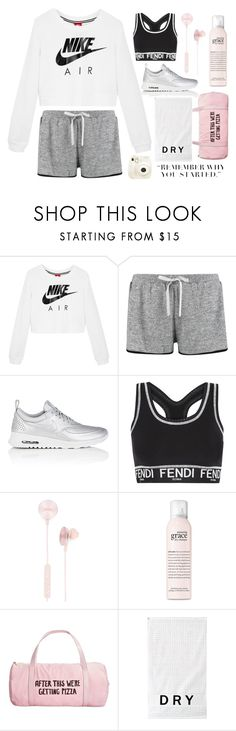 Workout by bexch on Polyvore featuring moda, NIKE, Boohoo, Fendi, ban.do, i.am+, philosophy, DKNY and Fujifilm