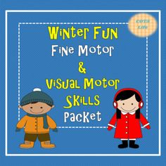 Winter Fun Fine Motor and Visual Motor Skills Packet Visual Perceptual Activities, Motor Activities, Activities For Kids, Prewriting Skills, Have Board, Pre Writing, Winter Fun, Coloring For Kids, Motor Skills