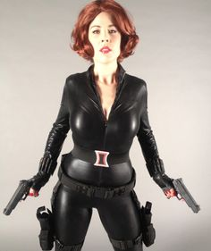 avengers black widow diy halloween costume by mark montano on the stylish with kat quinn stage 4