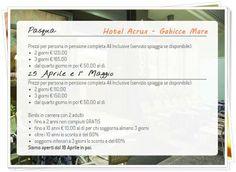Pasqua - 25 Aprile - 1° Maggio: guarda le promozioni che ti abbiamo riservato. Tutti i dettagli sul nostro sito: www.hotelacrux.com