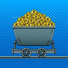 Buy Bitcoin Money in Miner Trolley Pop Art Vector by AlexanderPokusay on GraphicRiver. Bitcoin crypto currency money in miner trolley pop art style vector illustration. Bitcoin Mining Software, Bitcoin Mining Rigs, What Is Bitcoin Mining, Bitcoin Account, Buy Bitcoin, Bitcoin Currency, Buy Btc, Coin Logo, Bitcoin Mining Hardware