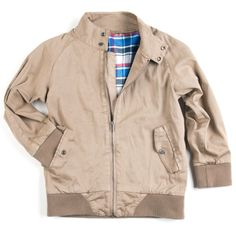 Barracuda Jacket - Khaki. After Steve McQueen, James Dean, and Elvis Presley started wearing the classic and functional British-style canvas jacket, it became an icon of cool, understated style. Features plaid lining.