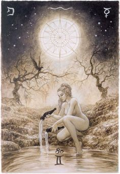 "Major Arcana: The Star by Spanish artist Luis Royo, known as an illustrator of books fiction genre, released ""Labyrinth Tarot"""