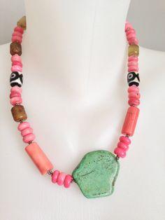 Joyería coralina joyería fornida declaración collar collar