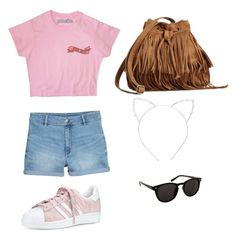 """Back to school ❤️"" by linavanmourik on Polyvore featuring H&M, adidas en Cara"