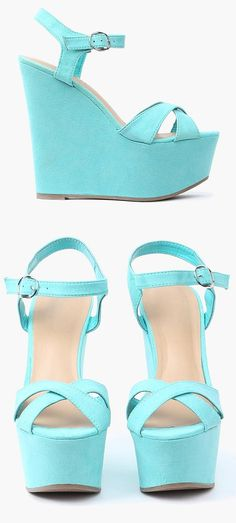 LOVE these aqua mint wedges! These shoes are so adorable and great!
