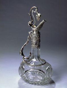 Victorian silver mounted claret jug by Henry Wilkinson, Sheffield, 1854