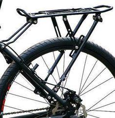 25kg Capacity Bike Racks Bike Luggage Bicycle Accessories Equipment Stand Footstock V Brake Disc Bicycle Kickstand Bicycle Rack