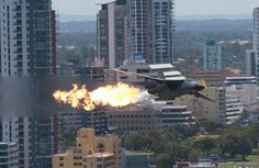 F-111: Afterburner in the city :)