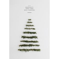 diy makeshift xmas tree wall hanging almost makes perfect via Polyvore featuring home, home decor, modern home decor, wall home decor and modern home accessories