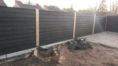 zwarte schutting tuin - Google Search